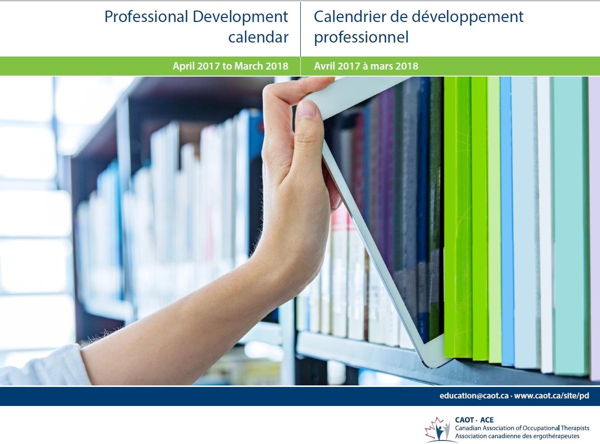 Professional develop calendar cover